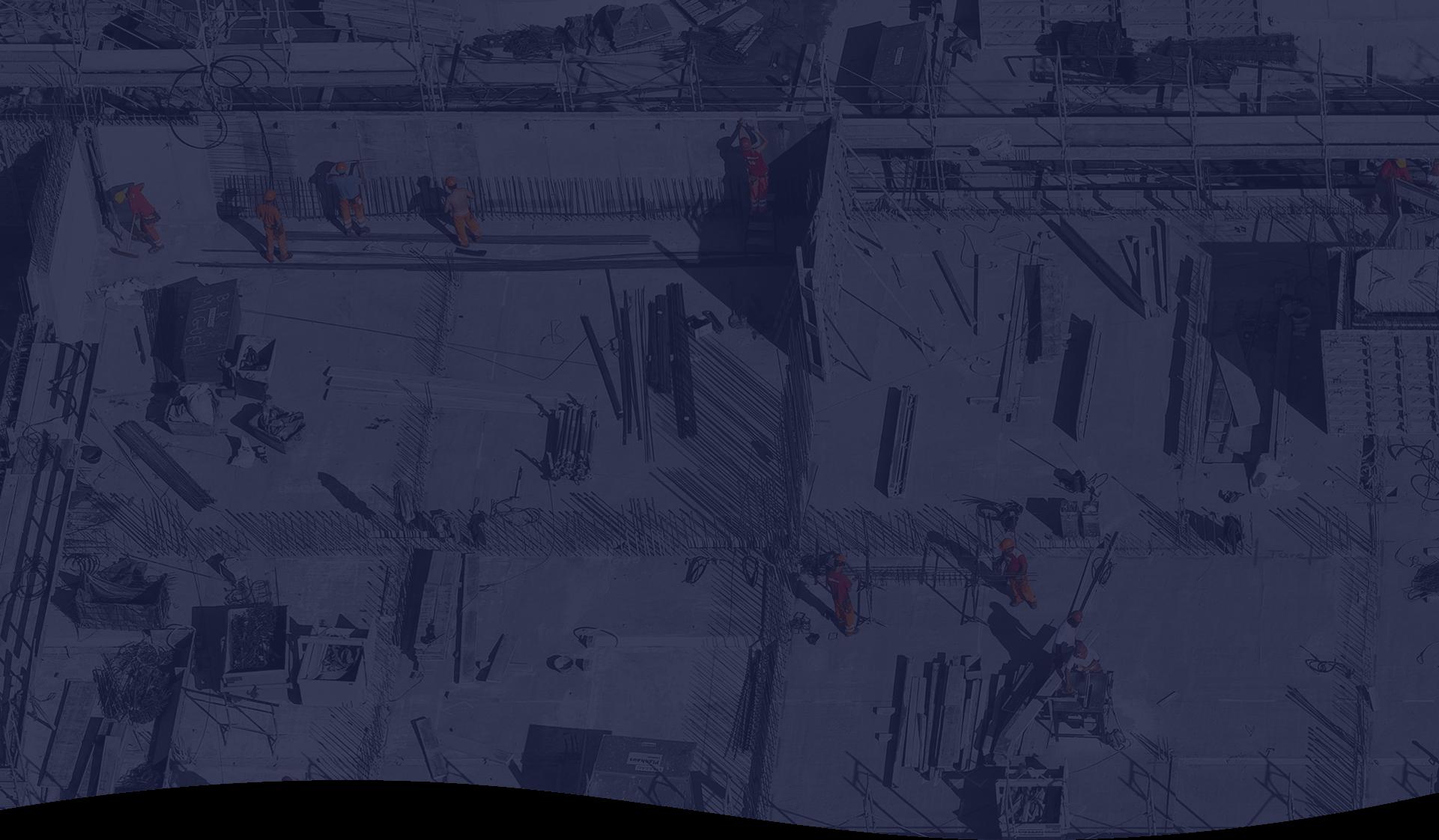 Protecht webinar series background showing construction site
