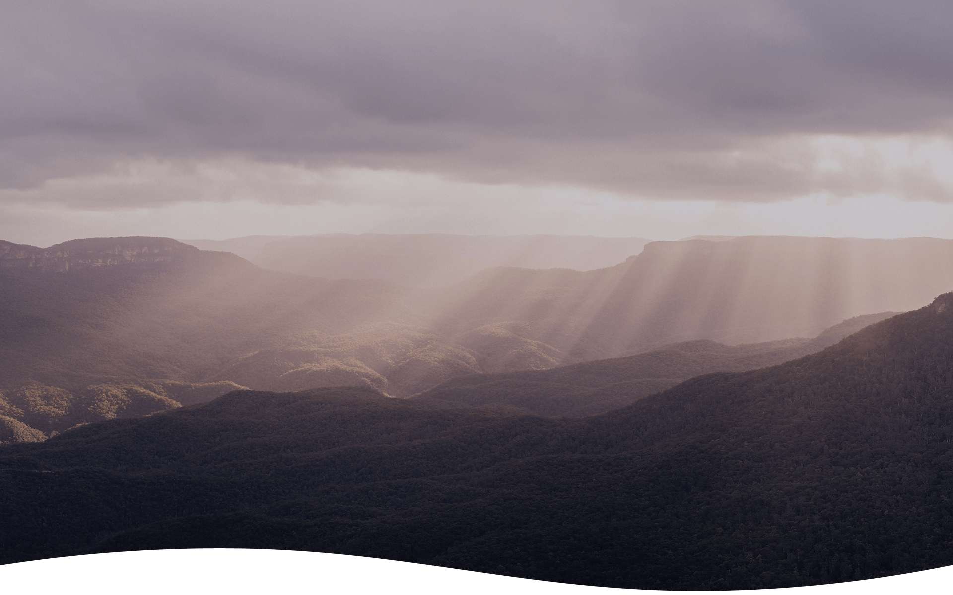 Webinar background showing the Blue Mountains in NSW Australia