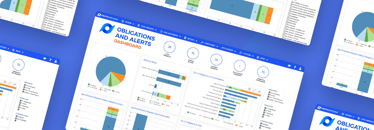 Protecht.ERM Obligations and Alerts Dashboard for Regulatory Compliance