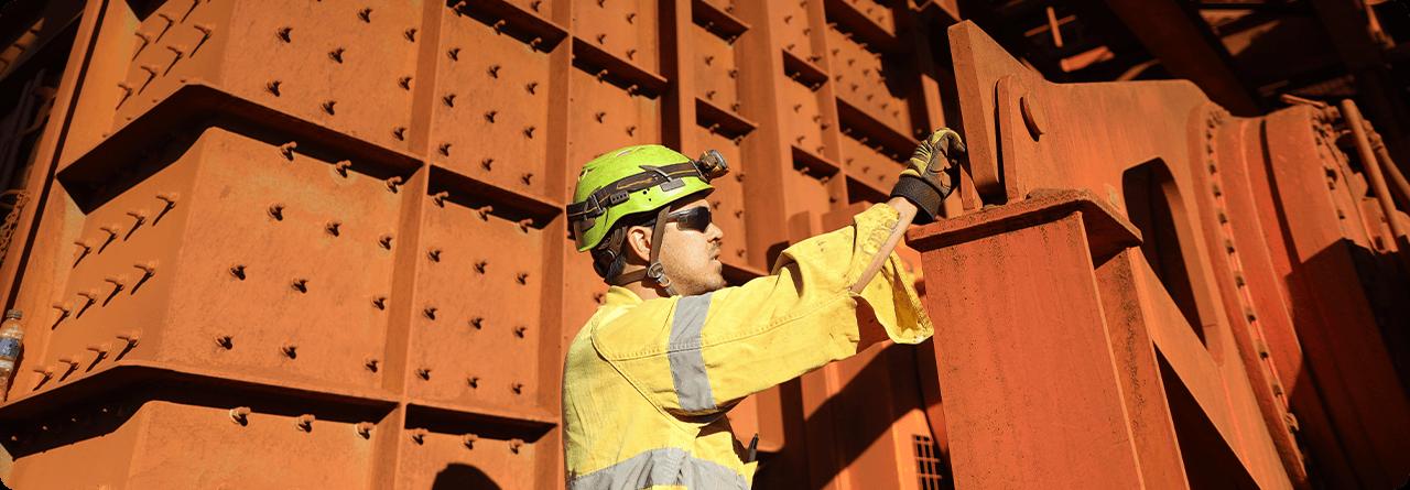 Protecht WHS webinar series showing miner in hard hat