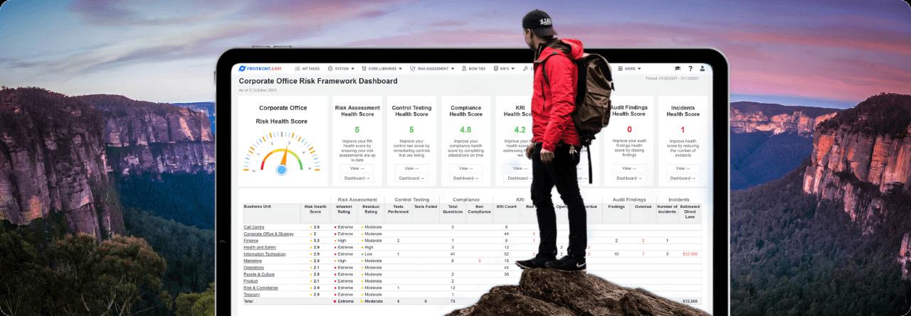 Risk Score Card screenshot in iPad